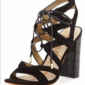 Sam Edelman Yardley Suede Lace up Sandal